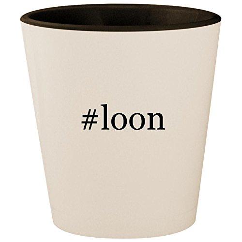 #loon - Hashtag White Outer & Black Inner Ceramic 1.5oz Shot -