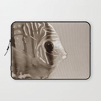 """longdong 15 """"peces Sepia carcasa del ordenador bolsa Slim Funda Neopreno, impermeable para"""
