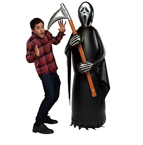 Grim Reaper Props (Inflatable, Rocking Grim Reaper with Sickle -- Stands 5 feet, 11 in (180 cm) Height -- Seasonal Holiday Decor)