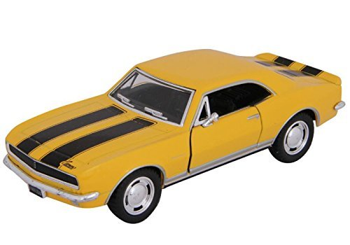 - 1967 Chevy Camaro Z/28, Yellow - Kinsmart 5341D - 1/37 scale Diecast Model Toy Car (Brand New, but NO BOX)