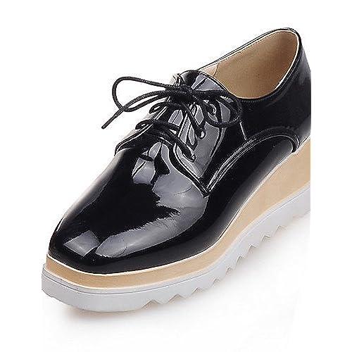 Plateformebout Chaussures Carré Talon Oxfords Njxfemme Compensé 0P8wknOX