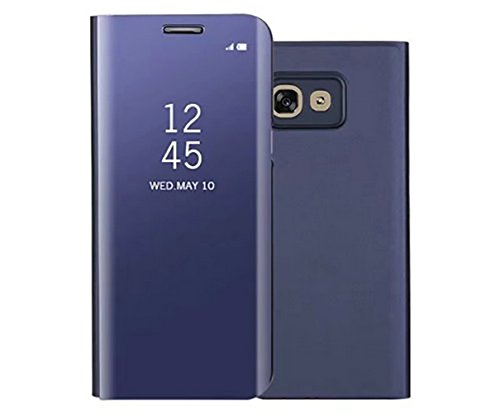 Price comparison product image ANERNAI Galaxy A5 Case,  Ultra Thin Shockproof Plating Stand PC Mirror Flip Full Body Protective Cover for Samsung Galaxy A5