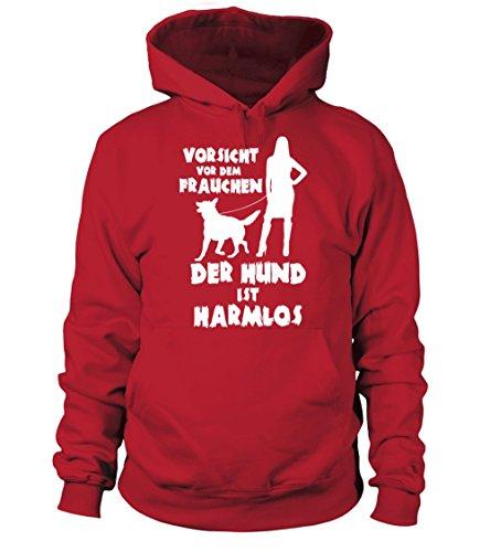 IchLiebeHunde.com - Sudadera con capucha - para mujer rojo S