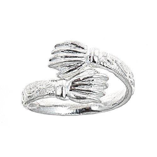 Hand / Palm Ends .925 Sterling Silver West Indian Style Ring (9)