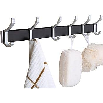 Amazon Com Wall Mounted Coat Rack With Moveable Hooks