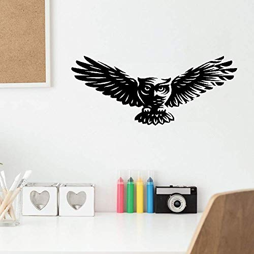 Mauai Wall Quotes Decal Wall Stickers Art Decor Abstract Cartoon Owl Bird Feathers ()