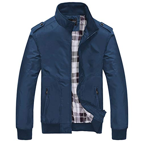 Zackate Mens Solid Color Zipper Sportlich Baseball Jacket Sweatshirts Casual Outwear Cool Coat