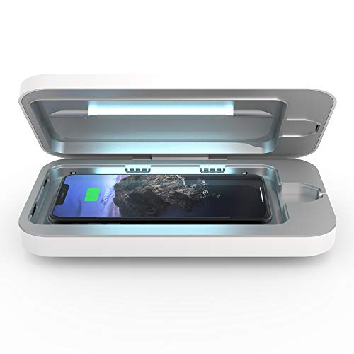 PhoneSoap-Wireless-UV-Smartphone-Sanitizer-Qi-Charger-Patented-Clinically-Proven-UV-Light-Disinfector-White