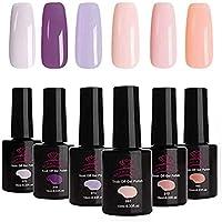 Makartt Gel Nail Polish Set, 6PCS 10ML, Elegant Colors Soak off UV LED Gel Polish (One Step Nail Gel Polish Set)