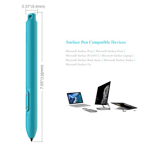 Microsoft Certified Surface Pen Supporting 200hrs Working 360-day Standby, Active 4096 Levels Surface Stylus Pencil Compatible with Surface Go/Pro 3/ Pro 4/ Pro 2017, Surface Laptop/Book/Studio by Heiyo (Image #6)