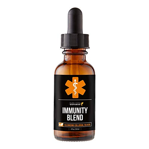 Pure Total Defense Immunity Blend – Cleansing Colloidal Silver – Naturally Fight Viruses & Bacteria with 40 PPM Nano Colloidal Silver – Premium Colloidal Silver Liquid – Time Tested Immune Support