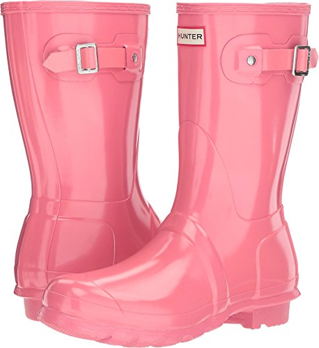 Hunter Women's Original Short Gloss Pink Rain Boots - 8 B(M) US (Pink Hunter Rain Boots)