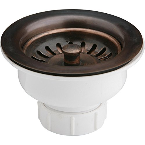 Elkay LK35AC Antique Copper Drain with Removable Basket Strainer and Rubber Stopper