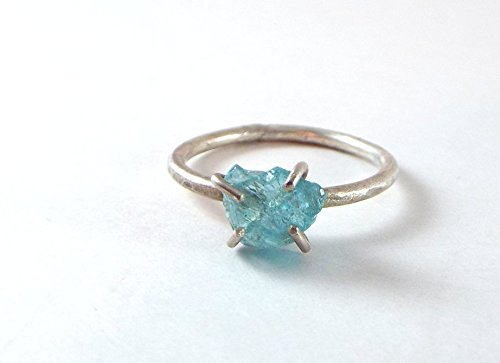 *DISCONTINUED* Raw Apatite SIZE 9 Prong Sterling Silver (Apatite Sterling Silver Ring)