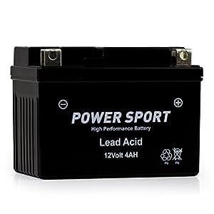 ExpertPower ETX4L-BS Powersport Replacement (YTX4L-BS, YT4L, YTX4L, YT4L-BS, GTX4L-BS, GT4L-BS, GTX4L, GT4L WPX4L-BS Sealed AGM For Arctic Cat, Polaris, Brp)