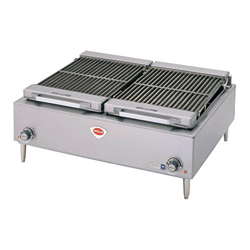 Wells B-50 Charbroiler countertop electric cast iron grate 36