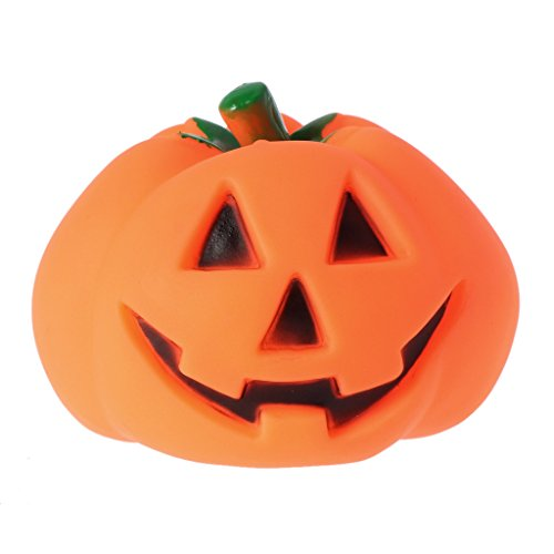 Richi Pet Dog Squeak Chew Toys Funny Pumpkin Design Sound Toy For Halloween ()