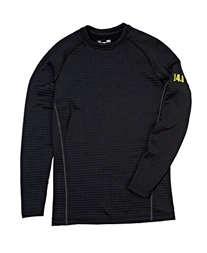 Under Armour 6391239730 ColdGear 4.0 Base Series Crew Top for Men - Long Sleeve, Black - Small