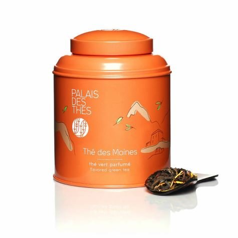 Thé Des Moines Black & Green Tea (3.5 Oz Loose Tea in a Canister)