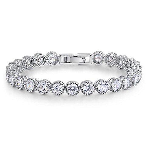 Zircon Diamond Platinum Handmade Bracelet