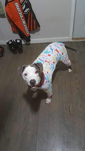 LovinPet Big Dog Pajamas, Large Dog Pjs Post Surgery Wear, 100% Cotton Dog Shirt for Pitbull Labrador Doberman Boxer Lightweight Pullover Dog Clothes(Large) by LovinPet (Image #6)