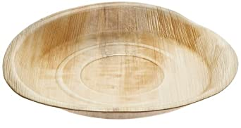 "PacknWood Palm Leaf Rectangular Plate, 9.5"" x 6.3"" (Case of 100)"