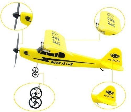 Big size Piper J-3 Cub electric airplane COM ¥ MI-HL803 ¥ Cessna type RC 33cm (japan import)