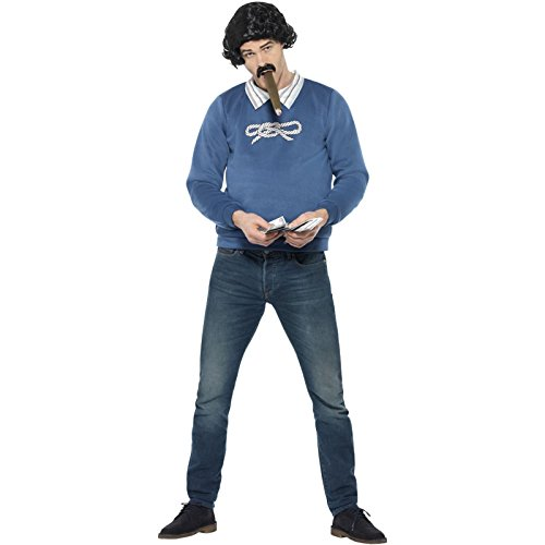 Colombian Gangster Mens Fancy Dress 80s Drug Lord Pablo Escobar Adults Costume for $<!--$35.90-->