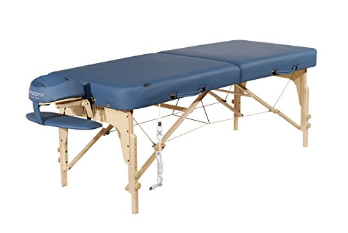 "Master Massage 30"" Phoenix Therma Top Portable Massage Table Bed Couch in Royal Blue with Built in Warming Pads"