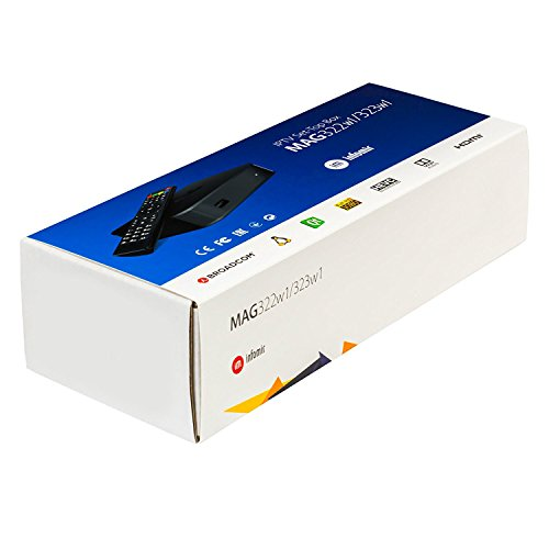 MAG 322 W1 IPTV BOX + IN BUILT WIFI + HDMI CABLE + REMOTE + POWER ADAPTER by MAG322-W1 (Image #2)'