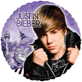 """JUSTIN Bieber BEIBER (1) 18"""" Party Mylar Balloon"""