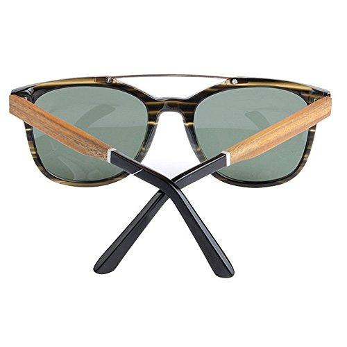 UV400 Green a bambú Brazo Yxsd SunglassesMAN Hombre Gafas Green de Madera Mano para Hecho de de Hecho Sol Mano Artesanal para Madera de Retro Diseño único a Sombras Hombre Color EZ88fqA