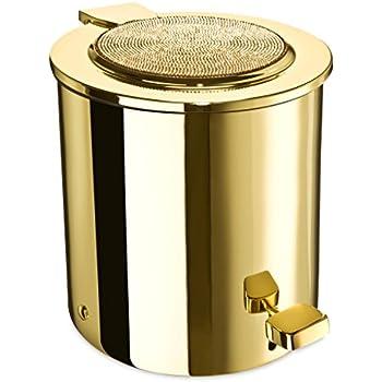 Amazon.com: W-Luxury Starlight Round Bathroom Pedal Brass ...