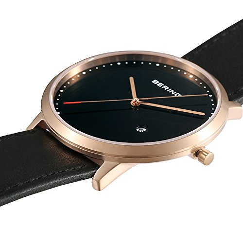 BERING Time 11139-462 Classic Collection Watch with Calfskin Band and scratch resistant sapphire crystal. Designed in Denmark. by Bering (Image #4)
