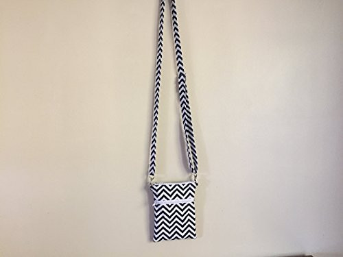 Handmade Quilted Handbags - Quilted Handmade Cell Phone Cross Body Bag-Chevron