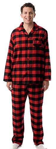 #followme Mens Flannel Pajama Coat Set - Adult Flannel