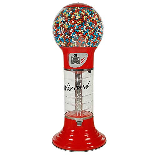 Spiral Gumball Vending Machines - Giant Wizard 5'6'' - $0.25 (Red) by Global Gumball (Image #9)