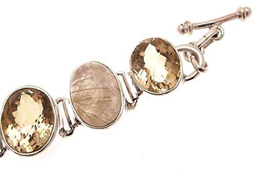 Bijoux citrine Citrine Bracelet Doré routile Bracelet Bracelet Argent 925