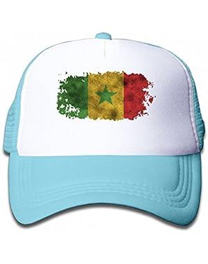 Vintage Senegal Reggae Youth Toddler Mesh Hats Kid Baseball Trucker Cap