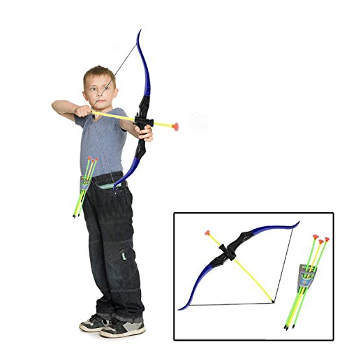 Dazzling Toys Toy Bow and Arrow Play Set for Camping | Children's Archery Set for Kids - Toy Bow and Arrow Play Set with Quiver, Bows and Arrows | Youth Archery Target Shooting Kit]()