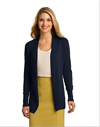 - Port Authority Ladies Open Front Cardigan, XXL, Navy