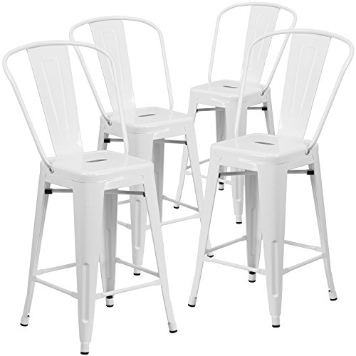 High Back Bar Stools - 9