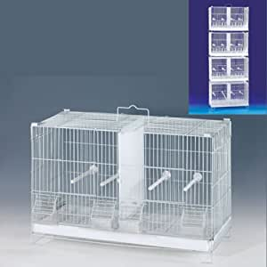 Amazon Com 4 Of Stack And Lock Double Breeder Cage Bird