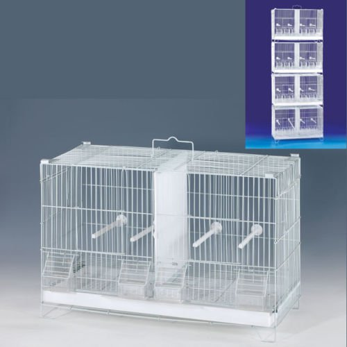 4 of Stack and Lock Double Breeder Cage Bird Breeding Cage With Removable Dividers And Breeder Doors 4 Of 23.5