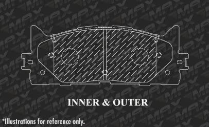 Max Brakes Front /& Rear Premium OE Rotors and Metallic Pads Brake Kit TA039343-6