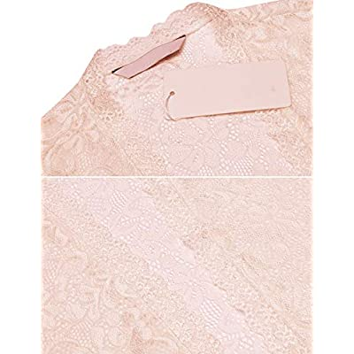Dealwell Women's Floral Lace Cropped Shrug Bolero Long Sleeve Open Front Cardigan at Women's Clothing store
