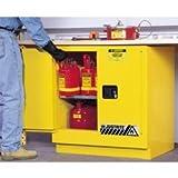 Justrite 892300 Undercounter Cabinets, 22 gallon capacity, manual-latching door