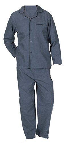 df9f5e664 Mens Insignia Plain Poly Cotton Pyjamas Set Traditional Classic Cut ...