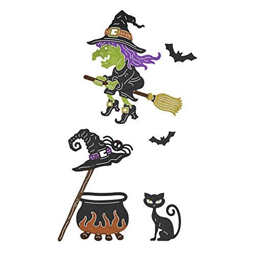 Cheery Lynn Designs B847 Witch's Brew 8 Piece Die Set -