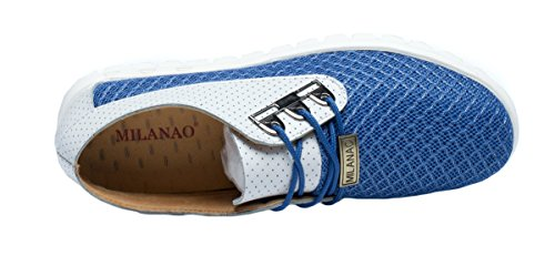 MILANAO Christmas Men's Mesh Breathable Casual Simple Contracted Joker Sneakers(10 D(M)US,blue)